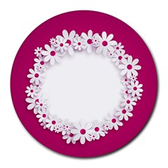 Photo Frame Transparent Background Round Mousepads