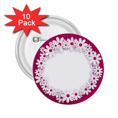 Photo Frame Transparent Background 2.25  Buttons (10 pack)