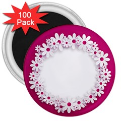 Photo Frame Transparent Background 3  Magnets (100 pack)