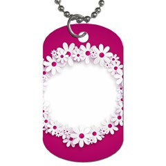 Photo Frame Transparent Background Dog Tag (Two Sides)
