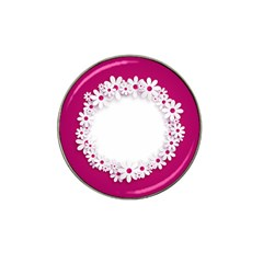 Photo Frame Transparent Background Hat Clip Ball Marker (4 Pack)