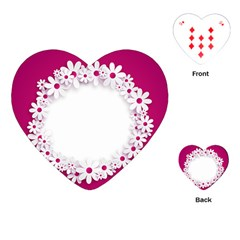 Photo Frame Transparent Background Playing Cards (heart)