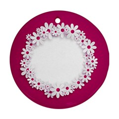 Photo Frame Transparent Background Round Ornament (Two Sides)