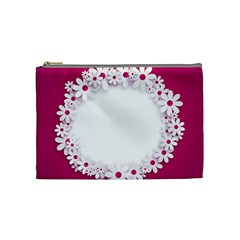 Photo Frame Transparent Background Cosmetic Bag (Medium)