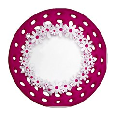 Photo Frame Transparent Background Round Filigree Ornament (Two Sides)