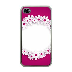 Photo Frame Transparent Background Apple iPhone 4 Case (Clear)