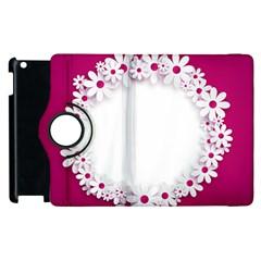 Photo Frame Transparent Background Apple iPad 3/4 Flip 360 Case