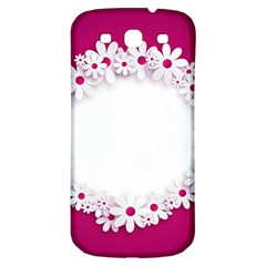 Photo Frame Transparent Background Samsung Galaxy S3 S Iii Classic Hardshell Back Case