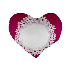 Photo Frame Transparent Background Standard 16  Premium Flano Heart Shape Cushions