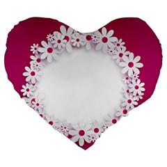 Photo Frame Transparent Background Large 19  Premium Flano Heart Shape Cushions