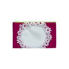 Photo Frame Transparent Background Cosmetic Bag (xs)
