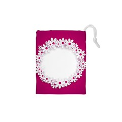 Photo Frame Transparent Background Drawstring Pouches (XS)