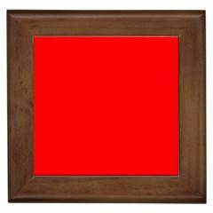 Solid Christmas Red Velvet Framed Tiles