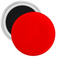 Solid Christmas Red Velvet 3  Magnets