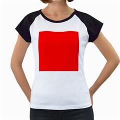 Solid Christmas Red Velvet Women s Cap Sleeve T