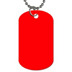 Solid Christmas Red Velvet Dog Tag (one Side)