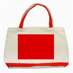 Solid Christmas Red Velvet Classic Tote Bag (Red)