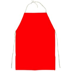 Solid Christmas Red Velvet Full Print Aprons