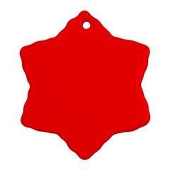 Solid Christmas Red Velvet Snowflake Ornament (Two Sides)
