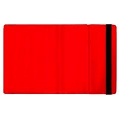 Solid Christmas Red Velvet Apple iPad 3/4 Flip Case