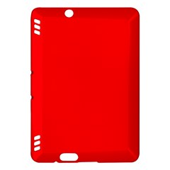 Solid Christmas Red Velvet Kindle Fire HDX Hardshell Case