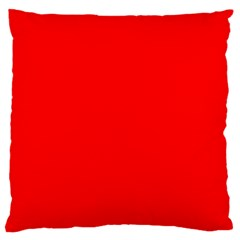 Solid Christmas Red Velvet Large Flano Cushion Case (Two Sides)