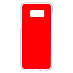 Solid Christmas Red Velvet Samsung Galaxy S8 Plus White Seamless Case