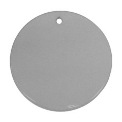Solid Christmas Silver Ornament (Round)