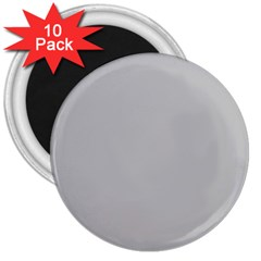 Solid Christmas Silver 3  Magnets (10 pack)