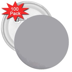 Solid Christmas Silver 3  Buttons (100 pack)