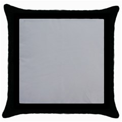 Solid Christmas Silver Throw Pillow Case (Black)