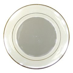 Solid Christmas Silver Porcelain Plates