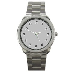 Solid Christmas Silver Sport Metal Watch