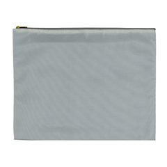 Solid Christmas Silver Cosmetic Bag (XL)