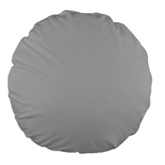 Solid Christmas Silver Large 18  Premium Flano Round Cushions