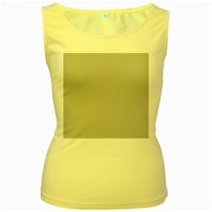 Solid Christmas Silver Women s Yellow Tank Top