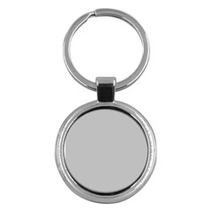 Solid Christmas Silver Key Chains (Round)