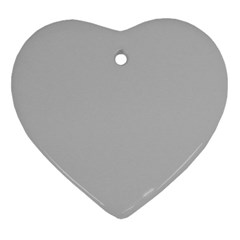 Solid Christmas Silver Heart Ornament (two Sides)