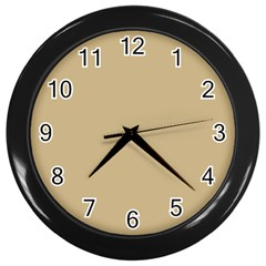 Solid Christmas Gold Wall Clocks (Black)