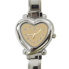 Solid Christmas Gold Heart Italian Charm Watch