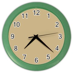 Solid Christmas Gold Color Wall Clocks