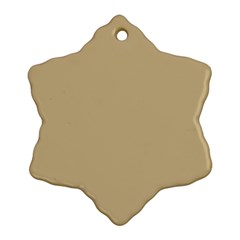 Solid Christmas Gold Ornament (Snowflake)