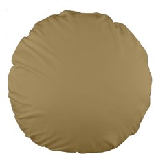 Solid Christmas Gold Large 18  Premium Round Cushions