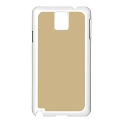 Solid Christmas Gold Samsung Galaxy Note 3 N9005 Case (White)