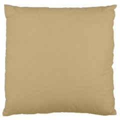 Solid Christmas Gold Large Flano Cushion Case (Two Sides)