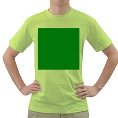 Solid Christmas Green Velvet Classic Colors Green T-Shirt