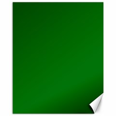 Solid Christmas Green Velvet Classic Colors Canvas 11  x 14