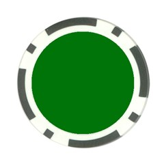 Solid Christmas Green Velvet Classic Colors Poker Chip Card Guard