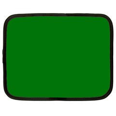 Solid Christmas Green Velvet Classic Colors Netbook Case (Large)