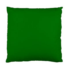 Solid Christmas Green Velvet Classic Colors Standard Cushion Case (Two Sides)